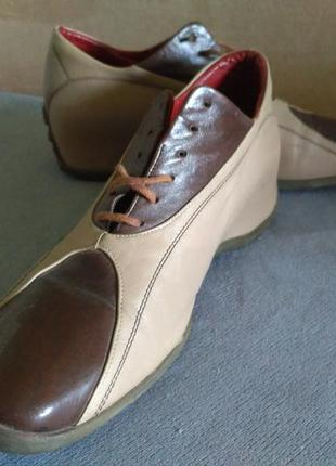 Брендовые полуспортивные кожаные туфли