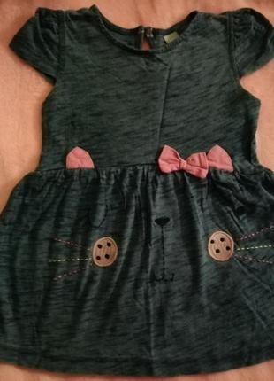 Платье сарафан платице с котиком tu на девочку 2-3 лет
