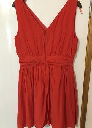 Красное платье naf-naf шёлк