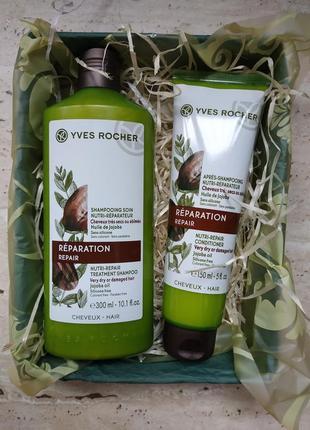 Питание и восстановление волос с маслом жожоба шампунь+бальзам yves rocher