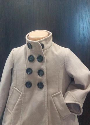 Нюдовое пальто,5-6л,стильное,next