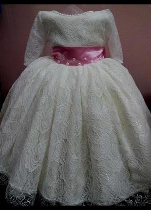 Платье на 1-2 года,очень красивое шили под заказ