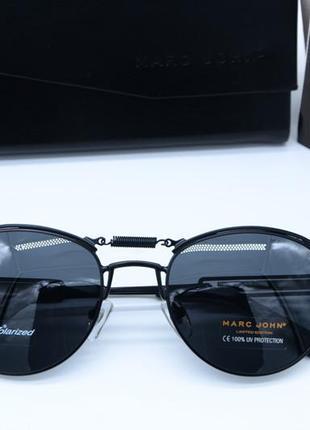 Фирменные круглые очки marc john polarized