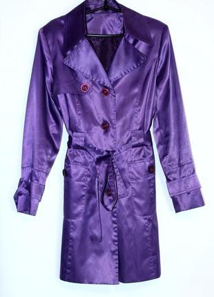 Sale! фиолетовый плащ, ветровка, непромокаемый, цвет - тренд 2018!