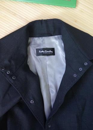 Черный с серым отливом  жакет тонкая шерсть betty barcley s/m4