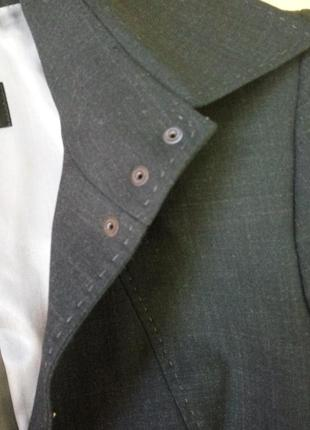 Черный с серым отливом  жакет тонкая шерсть betty barcley s/m6