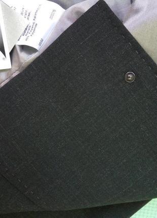 Черный с серым отливом  жакет тонкая шерсть betty barcley s/m7