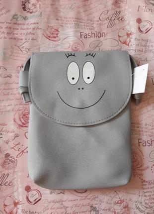 Отличная серая сумочка через плечо