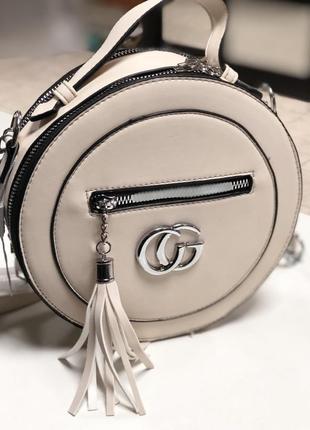 Стильная круглая сумка!!