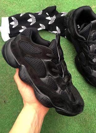 Кроссовки - в стиле adidas yeezy 500 (черные)