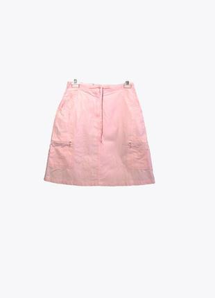 Стильная юбка-карго нежно-розового цвета из хлопка