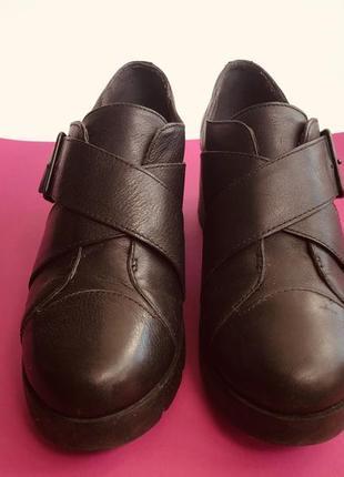Ботинки camper черные кожаные, 37р