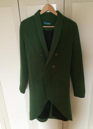 Пальто френч зеленое 42р