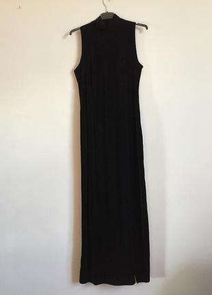 Чёрное бархатное платье макси , длинное в пол , вечернее