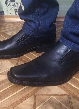 Удобные кожаные туфли на весну-осень, 44 размер