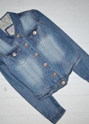 Пиджак джинсовый для девочки 9-10 лет