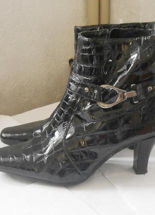 Качество! кожа! стильные лаковые ботинки ботильоны, р.38 код f3842