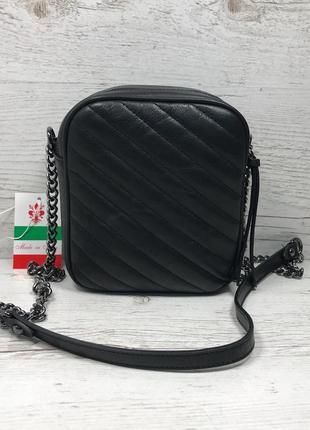 Женская итальянская кожаная черная бежевая жіноча італійська шкіряна сумка чорна5