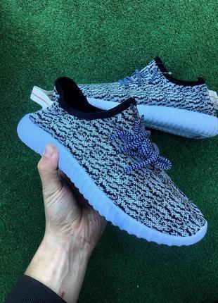 Кроссовки - в стиле adidas yeezy (белые)