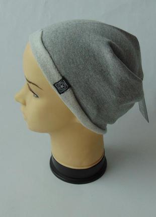 Молодежная шапка чулок бини унисекс с начесом terranova италия