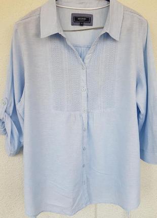 Рубашка блузка лён вышивка орнамент