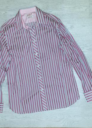 Стильная фирменная мужская рубашка в полоску