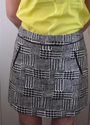 Черно-белая юбка от george