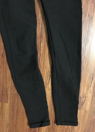 Лосины, штаны, чёрные, завышенная талия