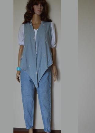 Куртка,безрукавка,жилетка  джинсовая .doris line prato.италия