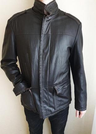 Мужская кожаная куртка из натуральной кожи pierre cardin (оригинал)
