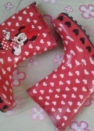 Disney резиновые сапоги девочке 9р 18см