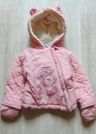 Нежная демисезонная куртка для модницы. rock a bye baby. размер 0-3 месяца
