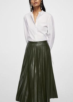Плиссированная юбка миди манго s-m