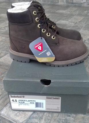 Timberland - 36 - 37 р.  новые детские зимние ботинки премиум кожа оригинал!