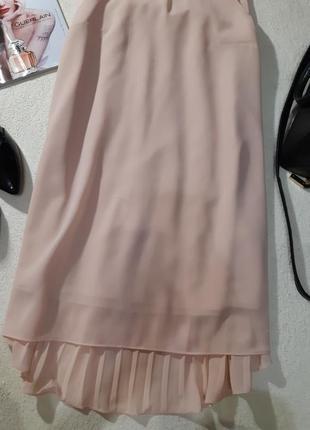 Нежное пудровое платье, спинка плиссе. размер xs3
