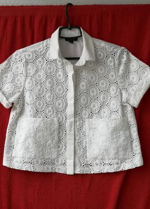 Белоснежная хлопковая блузочка