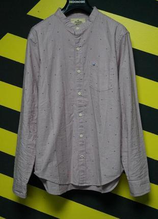 Рубашка ворот мандарин в мелких узорах и вертикальную полоску epic flex stretch