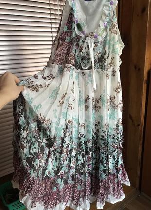 Воздушное плиссированное легкое платье