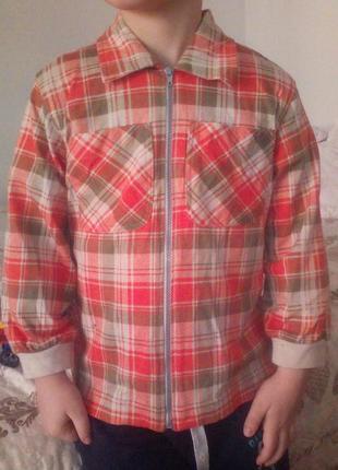 Рубашечка на молнии на 4-5 лет
