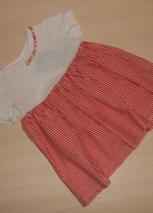 Платье, сарафан для девочки next 9-12 мес, 74-80 см, оригинал