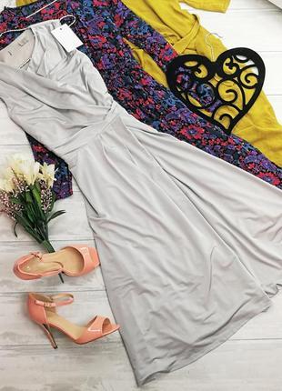 Элегантное платье стального цвета 141105 asos  размер uk8/36 (s)
