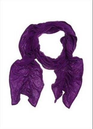 Новый фиолетовый фирменный шарф от reserved (шарфик)