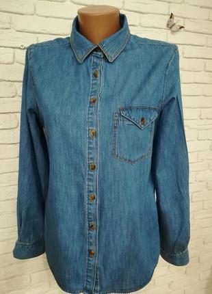 Рубашка джинсовая/р.l/бренд clockhouse
