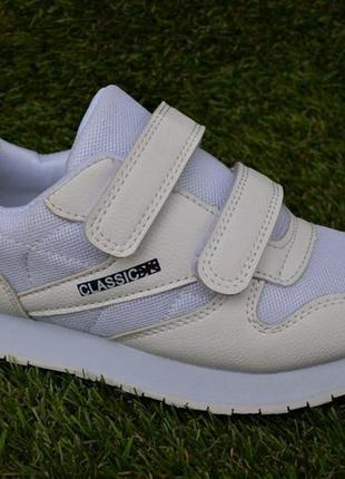 0f164c2a Детские кроссовки белые на липучке сетка, цена - 420 грн, #21331375 ...