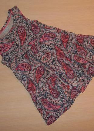 Трикотажное платье, сарафан f&f хлопок, 12-18 мес, 80-86 см, оригинал