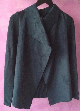 Стильный кардиган stradivarius под замш кофта пиджак