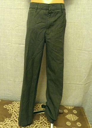 Брюки, штани  (штаны) для хлопчика, сірого кольору. по бірці 9-10-років, на зріст 140 см.