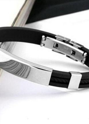 Каучуковый браслет, металл и каучук качество
