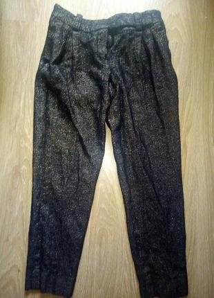Теплые штаны с люрексом