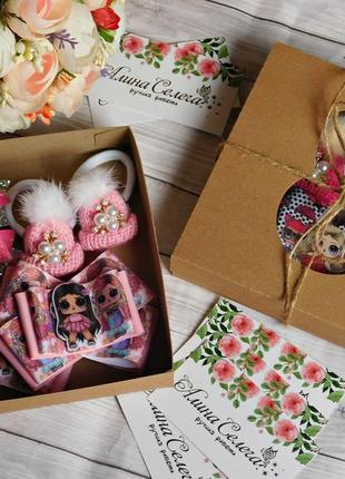 Набор детских украшений для волос с lol, цвет розовый